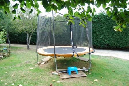Gite de groupe avec trampoline