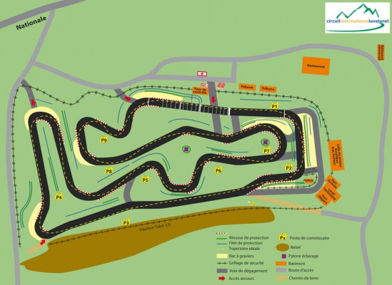 Circuit de Karting détaillé