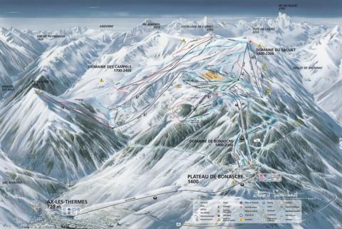 Ax 3 Domaines - Plan des pistes