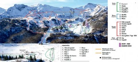Les Monts d'Olmes - Plan des pistes