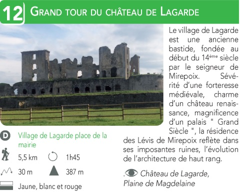 Le Grand Tour du Chateau de Lagarde