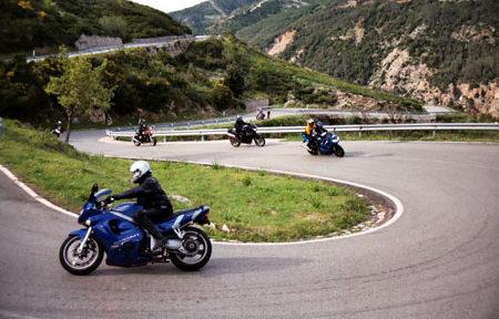 Moto en Pyrenees